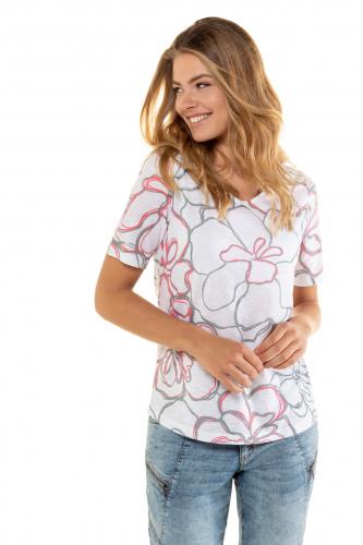 Marškinėliai gėlėti