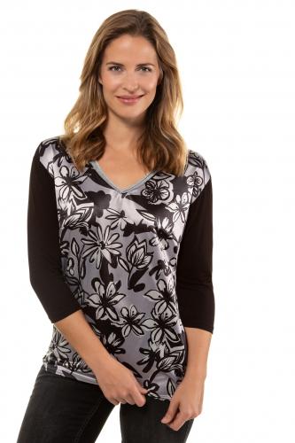 Marškinėliai trikotažiniai V formos apykaklė