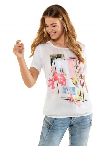 Marškinėliai tropikų raštais