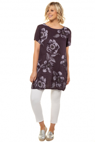 Suknelė lininė gėlės