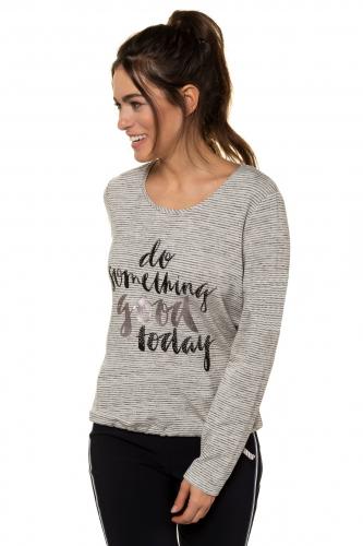 Džemperis priekyje su raštu