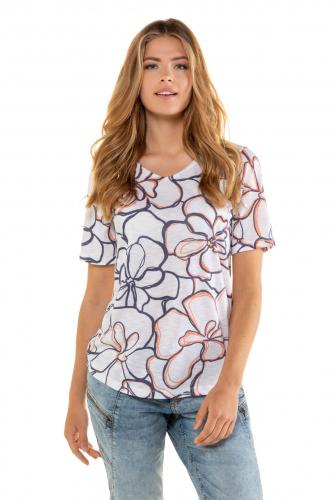 Marškinėliai gėlėta